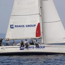 HB Reavis dojíždí ve druhé navigační rozjížďce Stavební regatty 2010 na pátém místě.
