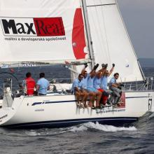 Max Real vítězí ve třetí rozjížďce Stavební regatty 2010.