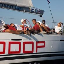 Taktika posádky Rodop při slabém větru.