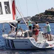 Při druhé navigační rozjížďce do zátoky Opat mohly teamy taktizovat zda jet mezi ostrovy či vně Kornat na otevřeném moři.